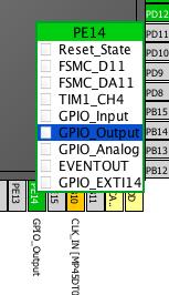 PE14 as output