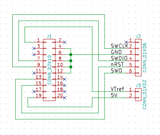 ARM Cortex STM32 SWD Schematic